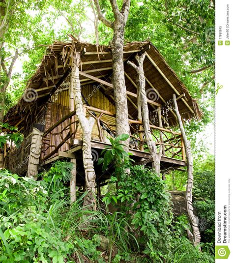 Small House Cabin Plans jungle bungalow in phi phi island royalty free stock photo