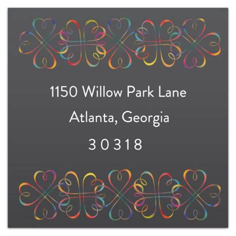 colored address labels multicolored return address labels paperstyle