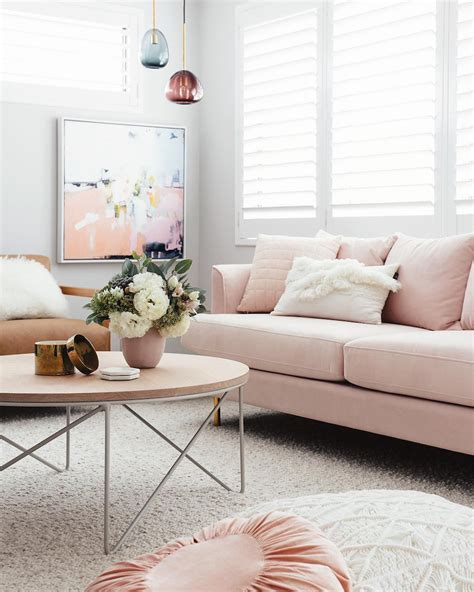 light pink sectional sofa 16 ultra chic blush pink sofas how to style them
