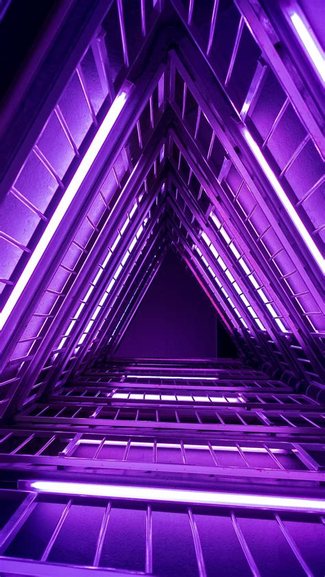wallpaper lights purple neon triangles  photography  popular  wallpaper