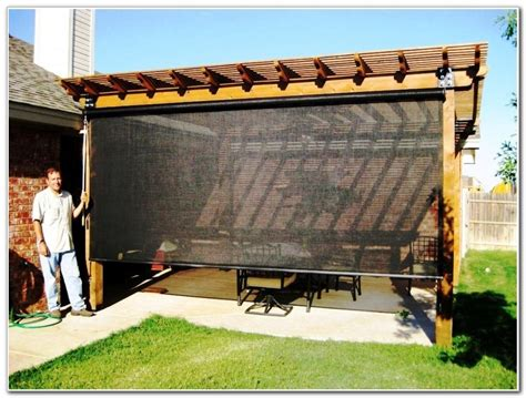 patio shade screens home design ideas and pictures