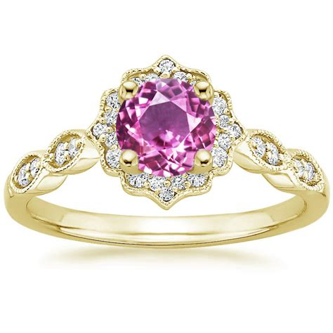 Engagement Rings Pink Sapphire by Pink Sapphire European Engagement Rings From Mdc