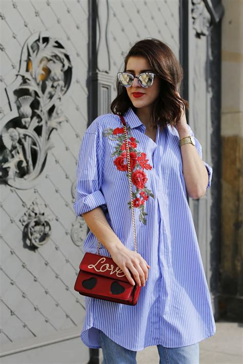 Embroidery Shirtdress embroidered shirtdress fashion from berlin