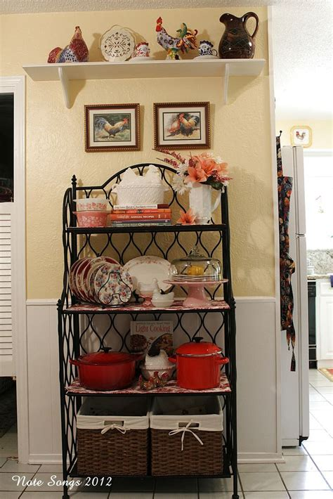 kitchen rack ideas 1000 ideas about bakers rack decorating on pinterest