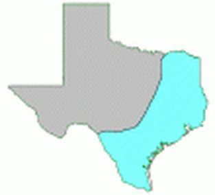 texas coastal plains map gulf coastal plains regions of texas