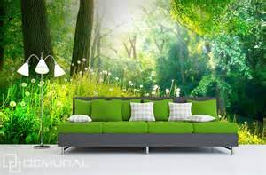 Forest Wall Mural Wallpaper in green woods forest wallpaper mural photo wallpapers