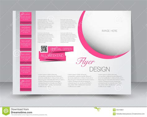 brochure and magazine layout design vector flyer brochure magazine cover template design landscape
