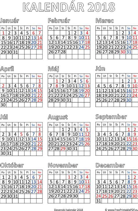 Kalendar 2018 Kuda Pdf Kalend 225 R 2018 Tlač Pdf Pdf Pre Tlač Zdarma