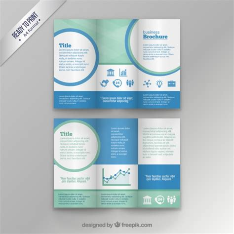 Template Brochure Free by Business Brochure Template Vector Free
