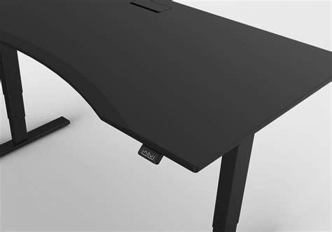 black gaming desk adjustable height office table eldesignr