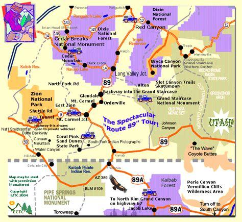 zion park map zion national park tourist map zion national park mappery