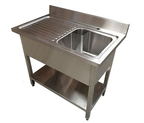 stainless steel pot sink 1m commercial stainless steel lhd single bowl sink 600