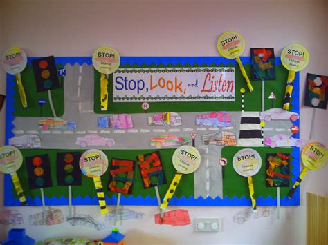 stop look and listen a toolbox for creating healthy boundaries books stop look and listen road safety classroom display photo