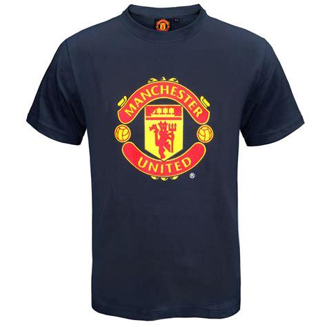 T Shirt Mu Utd manchester united fc official football gift crest t