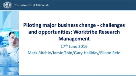 Mba In Operations And Research Management by Piloting Major Business Change Worktribe Research