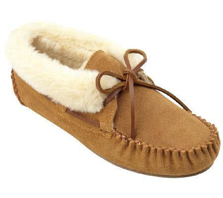 minnetonka chrissy slippers minnetonka chrissy ankle slippers page 1 qvc