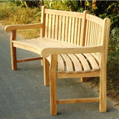 curved teak benches for gardens teak garden bench big classic curved sustainable furniture