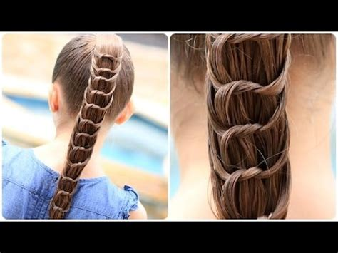simple and easy hairstyles step by step youtube how to create a knotted ponytail cute hairstyles youtube