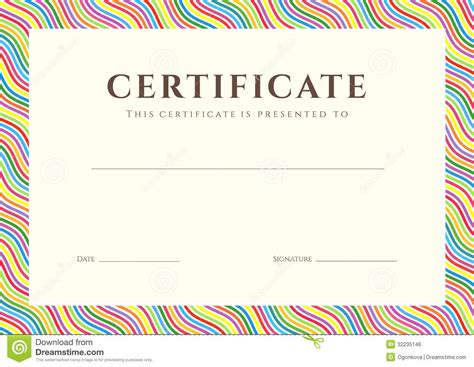 colorful certificate template sle template certificate of completion search results