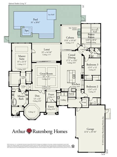 Builders Home Plans by Arthur Rutenberg Homes Floor Plans Panama City Fl