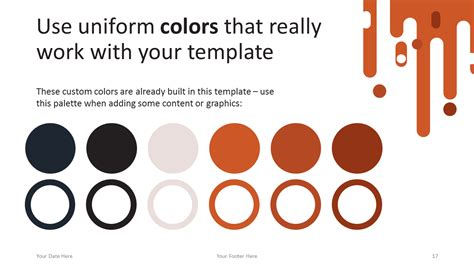 powerpoint template color scheme retro free powerpoint template