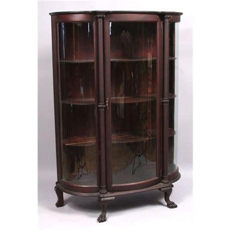 Mahogany curved glass china cabinet