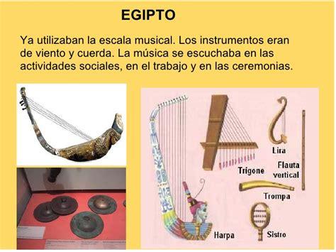 imagenes de instrumentos musicales egipcios historia de la m 250 sica desde los or 237 genes hasta el s xviii
