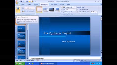 tutorial powerpoint animation 2007 microsoft powerpoint 2007 animation effects youtube