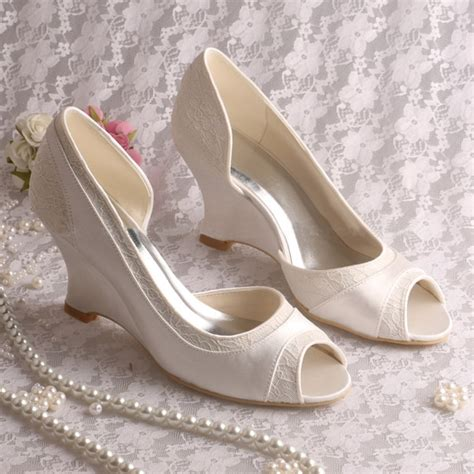 comfortable wedding shoes wedges ericdress comfortable wedge heel lace wedding shoes