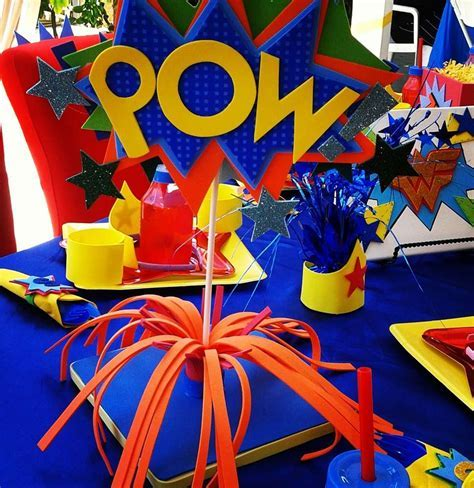 Wonder Woman Birthday Party Ideas   Photo 4 of 17   Catch