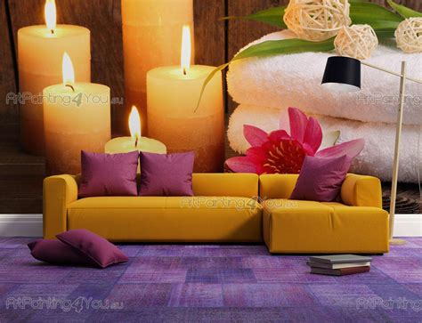 fiore spa carta da parati poster spa fiore di loto