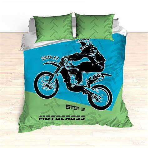 personalized motocross gear motocross bedding personalized comforter duvet dirt