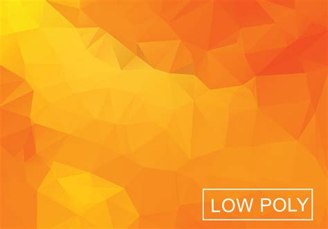 orange geometric low poly style illustration vector
