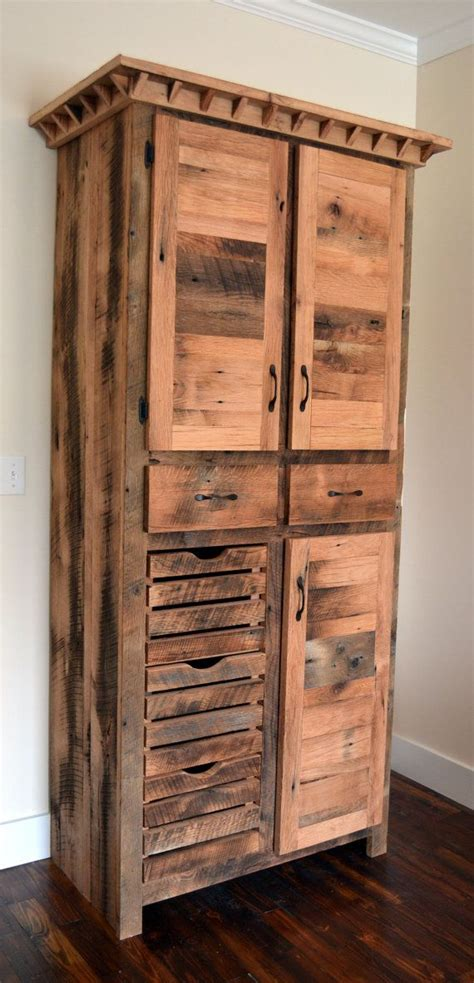 Wood Pantry Cabinet Reclaimed Barnwood Pantry Cabinet Diy Home Improvements