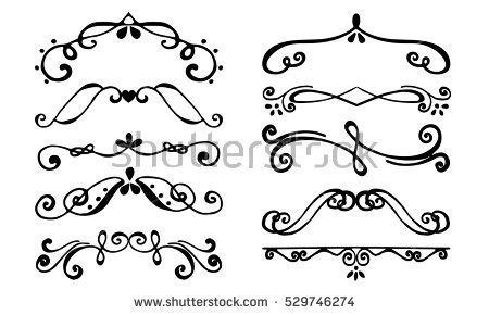 border decorative vintage elements set borders flourish decorative border vintage stock