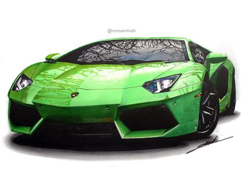 Lamborghini Drawing by Lamborghini Aventador Drawing Roman Miah Draw To Drive
