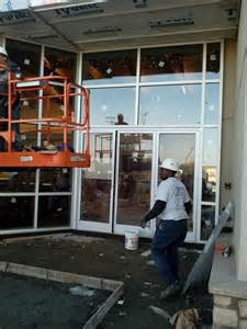 Atlanta Jaguar Dealers Storefront Glass Repair Replacement Installation