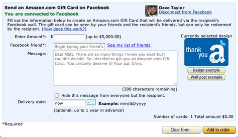 Amazon Gift Card Facebook - can i give someone an amazon gift card on facebook ask dave taylor