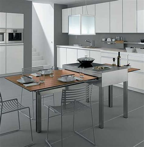 Kitchen Table Ideas For Small Spaces Modern Tables For Small Kitchens Show Adjustable Multifunctional Space Saving Furniture Design