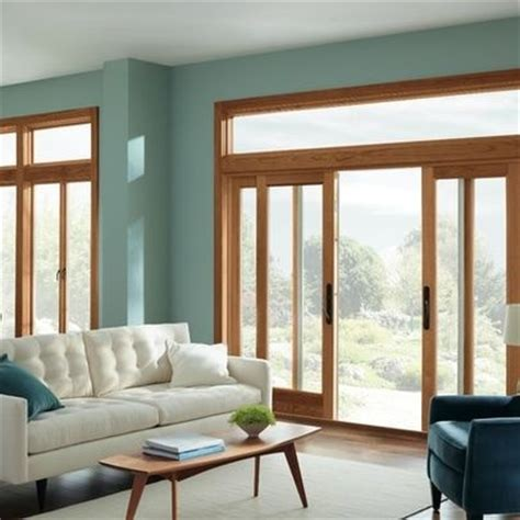 wood trim with blue green wall paint colors living room wood trim oak trim