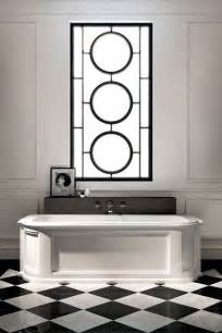 stunning art deco style bathroom design ideas sparkle tiles black floor tile retro blue