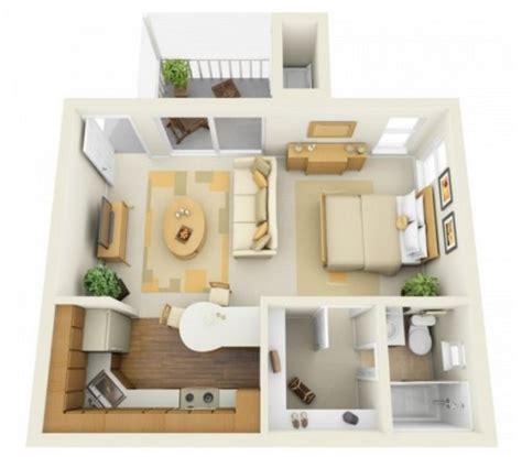 denah desain interior apartemen terbaik