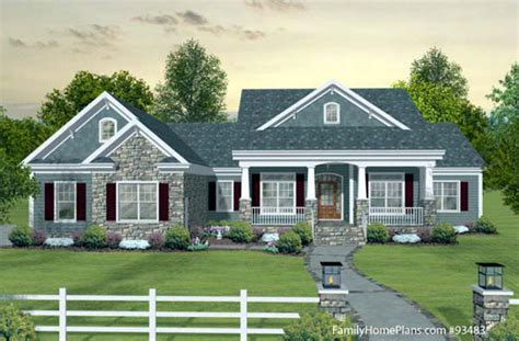 house plans with front porch one story craftsman style home plans craftsman style house plans