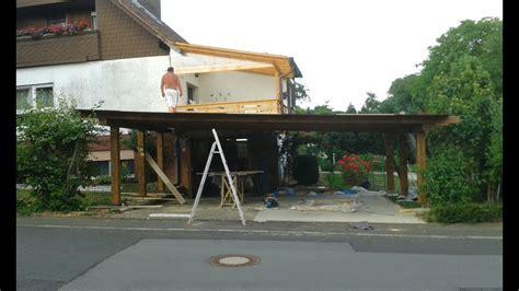 carport selber bauen mega projekt carport teil 2 4 carport selber bauen auto
