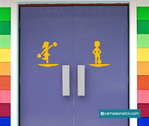 insegna bagno insegna porta bagno calcio adesivo murale sticker da