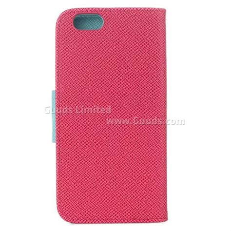 Cover360 Iphone 6 6s 6g 4 7inci Free Tempered dual color cross textured leather flip cover for iphone 6 plus 5 5 inch leather