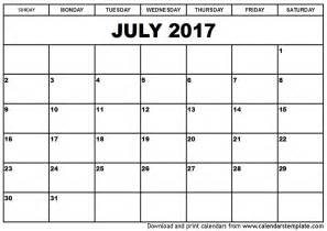 calender templates free july 2017 calendar printable template with holidays