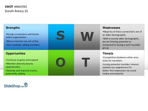 duluth rotary  swot analysis