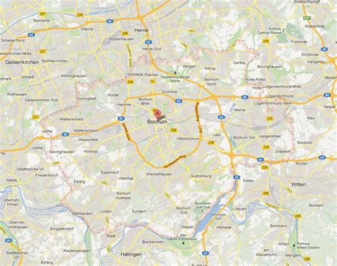 map of bochum germany bochum map and bochum satellite image