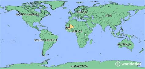 where is mali on the world map where is mali where is mali located in the world